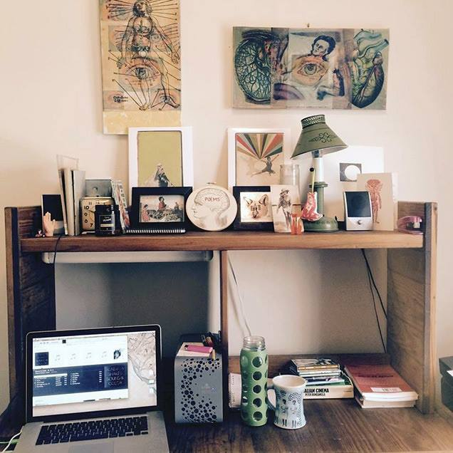 Emilia's desk for Erin Dorney's From the Desk Of Blog - 05-2015