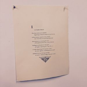 I by Claudia Emerson broadside - 05-05-2015