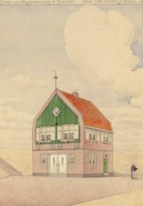 Garage met Chauffeurswoning te Zandvoort (1916) by Guillaume Frédéric la Croix