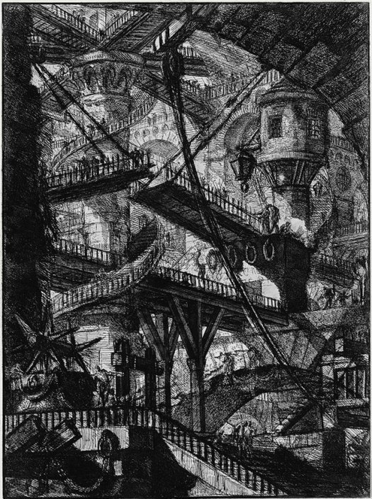 """The Drawbridge"" from ""Imaginary Prisons"" (1750) by Giambattista Piranesi"