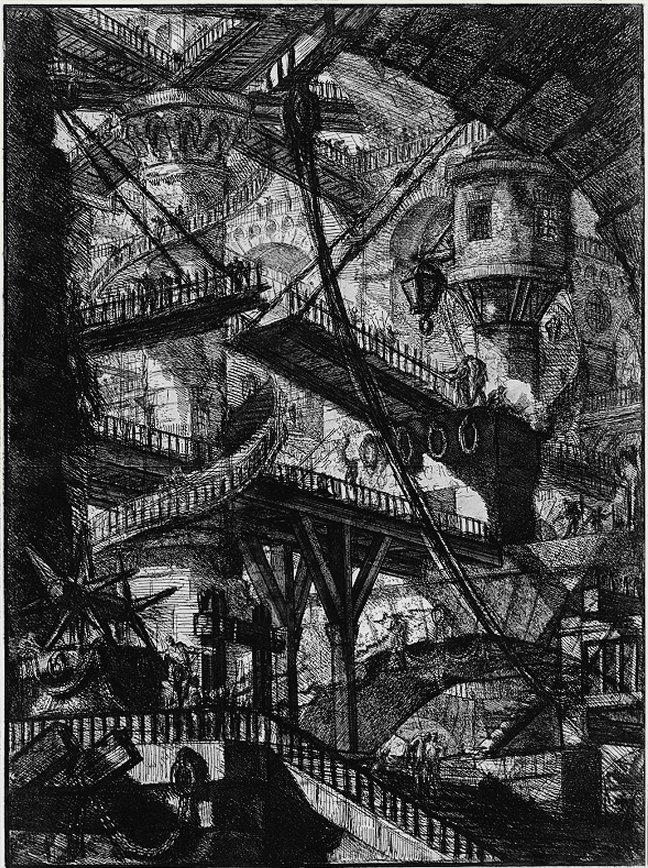 """The Drawbridge"" from ""Imaginary Prisons"" (1750) by Giambattista Piranesi"