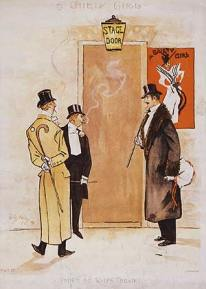 Drawing of Stage Door Johnnies (1894)