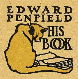 Bookplate of American painter and illustrator Edward Penfield (1866-1925)
