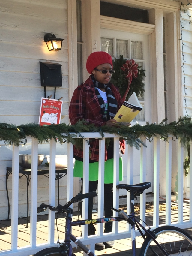 Kierra Collins reading poetry on December 12, 2014 in Richmond, Virginia