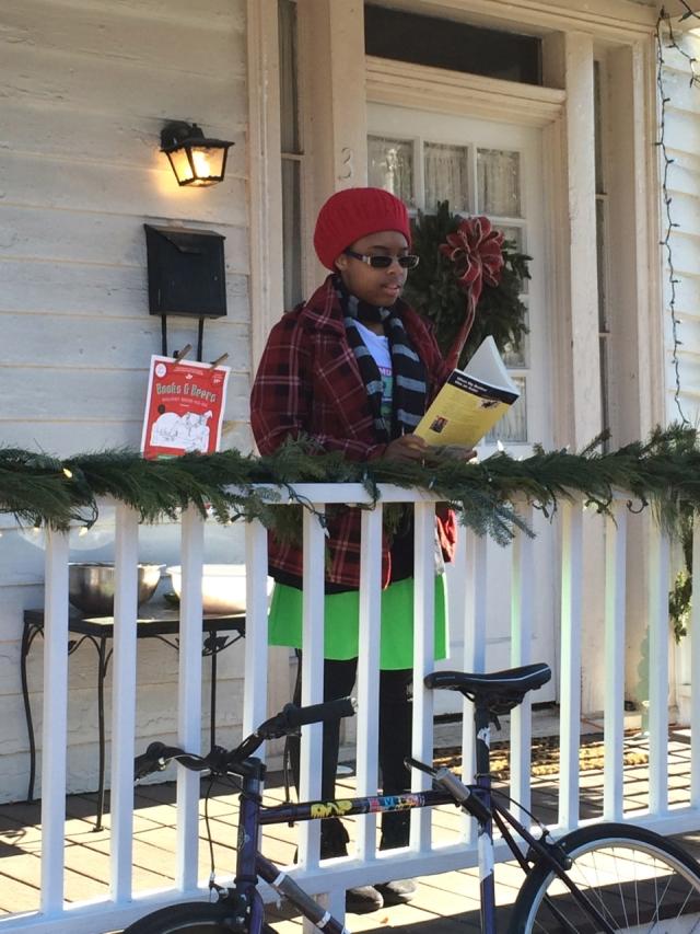 Kierra Collins reading poetry on December 12, 2014 in Richmond, Virginia