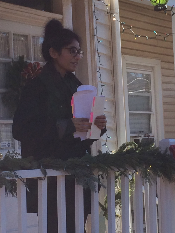 Gagan Kaur  reading poetry on December 11, 2014 in Richmond, Virginia
