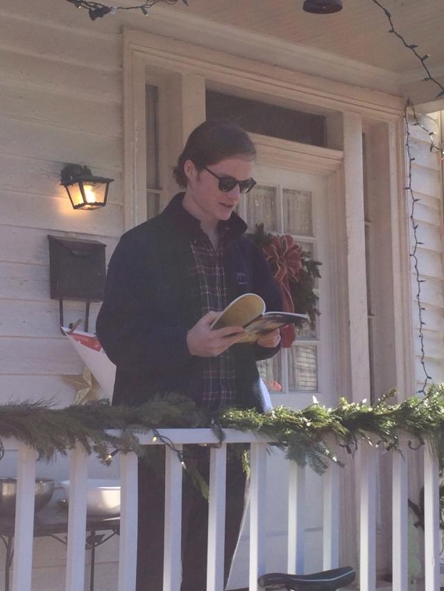 Colin McEligot  reading poetry on December 11, 2014 in Richmond, Virginia