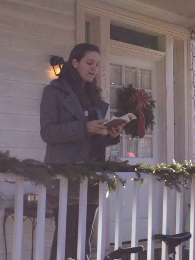 Kelly-Jayne McGlynn  reading poetry on December 11, 2014 in Richmond, Virginia