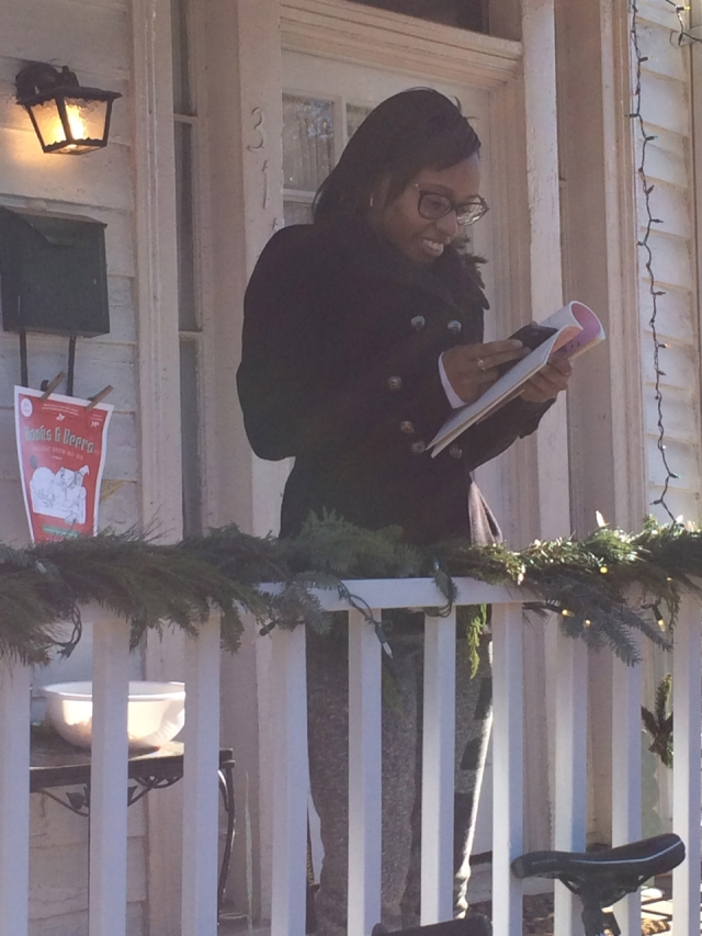 Mariah Monk reading poetry on December 11, 2014 in Richmond, Virginia