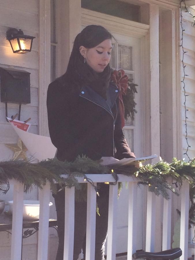 Alyssa Trop  reading poetry on December 11, 2014 in Richmond, Virginia