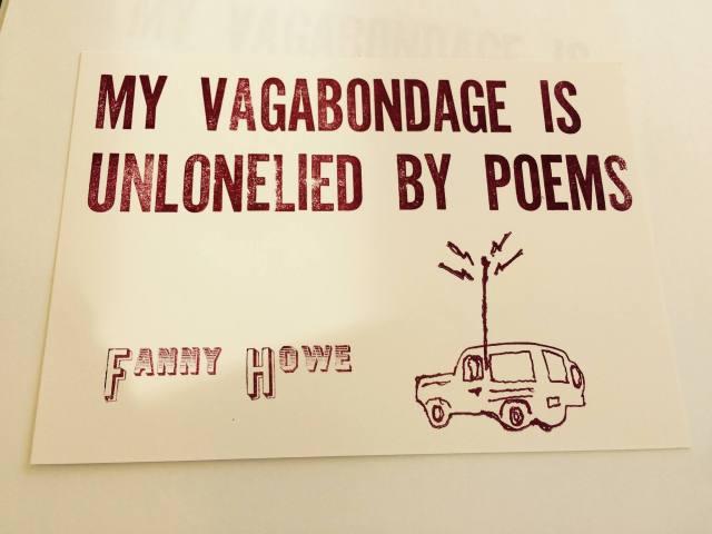 My Vagabondage postcard Fanny Howe