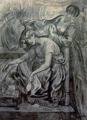 Dante Gabriel Rossetti - Desdemona's Death Song (ca 1878-1881, print)